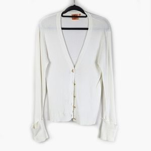 Tory Burch Rib Knit Cardigan Size Large